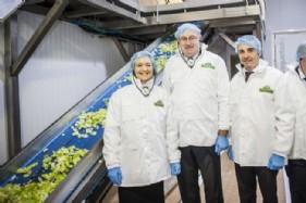 La ministra Isabel García Tejerina, con el comisario europeo Phil Hogan y el presidente del Grupo Alimentario Citrus, Joaquín Ballester