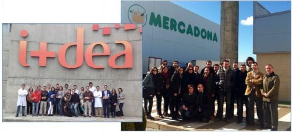 Alumnos de la 5ª Edición de MGEA (octubre 2014- septiembre 2015) durante la visita realizada al Centro I+Dea de Grupo Siro y al Bloque Logístico de Mercadona.